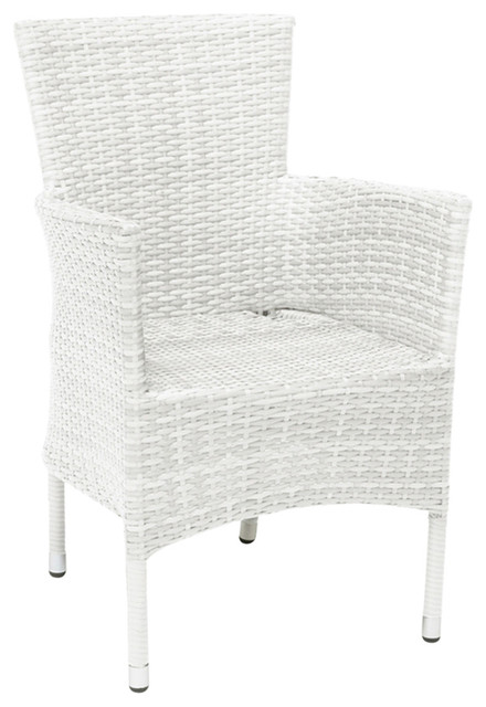 Atlanta Stackable Dining Chair, White