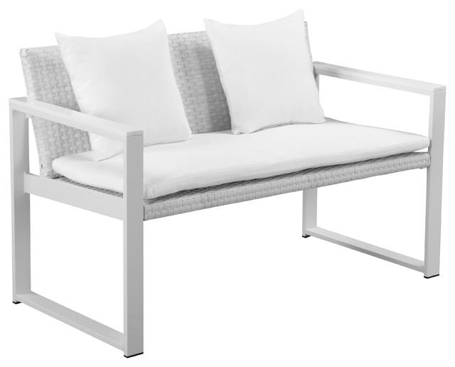 Chester Sofa Brush Frame White Fabric