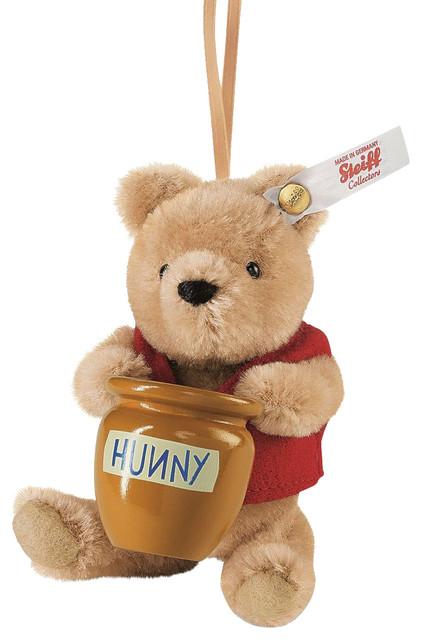 Steiff Winnie the Pooh With Honey Pot Teddy Bear Ornament ...