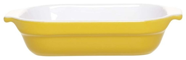 Emile Henry Classic Rectangular Baking Dish, 6 8, Yellow.
