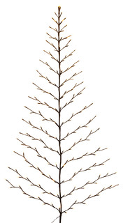 Tree-shaped Wall Hanging With LED Lights and Pliable Branches