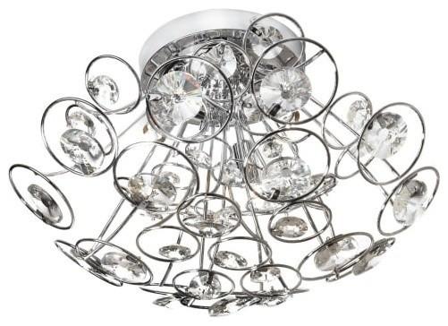 "Shop Millennium Lighting 3 Light Neo Industrial Rubbed: Dainolite STN-163FH Stanza 3 Light 17"" Flush Mount Ceiling"