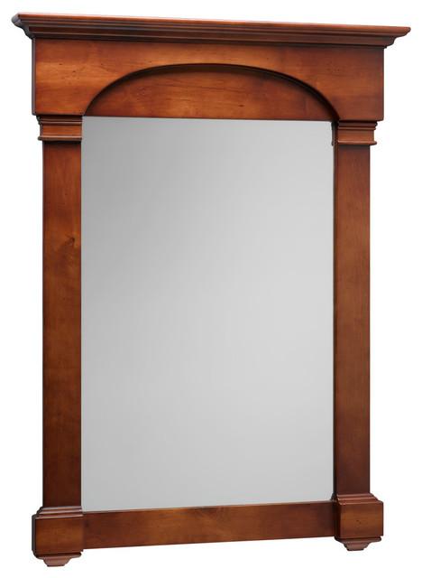 Ronbow Verona Solid Wood Framed Bathroom Mirror Colonial Cherry 30 X39 Contemporary