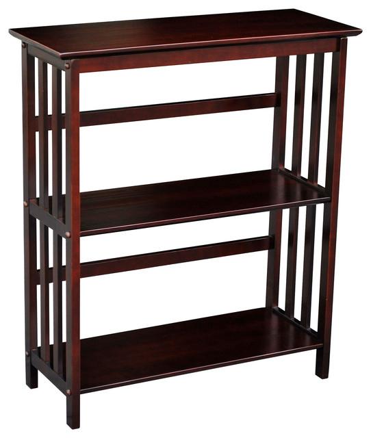 Mission 3 Shelf Bookcase Espresso