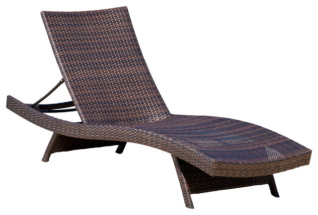 Lakeport Outdoor Adjustable Chaise Lounge Chair  sc 1 st  Houzz & Lakeport Outdoor Adjustable Chaise Lounge Chair - Tropical - Outdoor ...