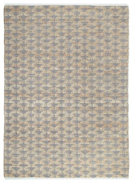 Yuma Gray And Natural Jute Rug, 5&x27;x8&x27;.