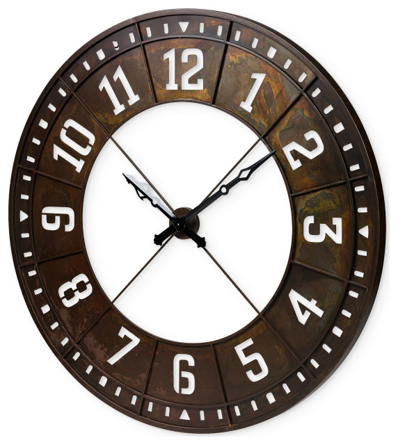 Mercana Newcastle Giant Oversize Industrial Wall Clock 68526 Industrial Wall Clocks By Hedgeapple Houzz