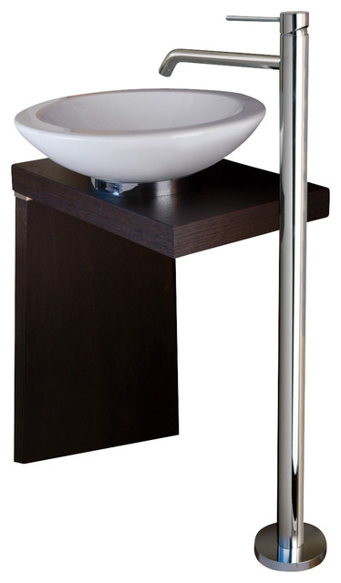 WS Bath Collections Light Free Standing Bathroom Sink Faucet
