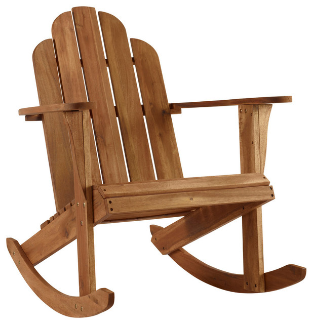 Solid Wood Acacia Rocking Chair, Teak.
