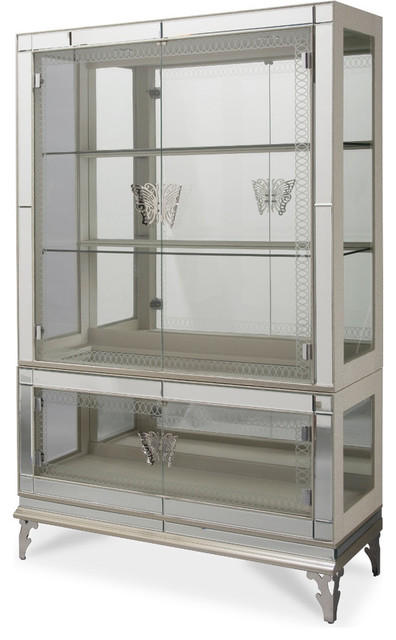 Hollywood Swank Curio With Glass Doors - Contemporary - China Cabinets ...