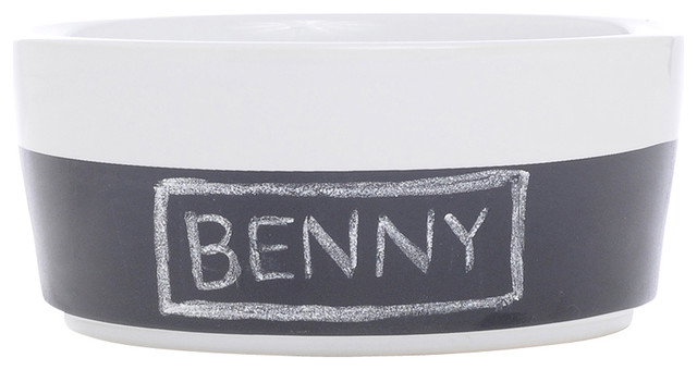 Chalkboard Dog Bowl Contemporary Pet Bowls And Feeding
