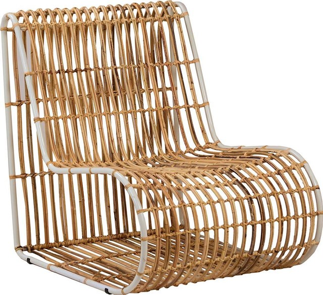 Melo Pearl White Rattan Occasional Chair