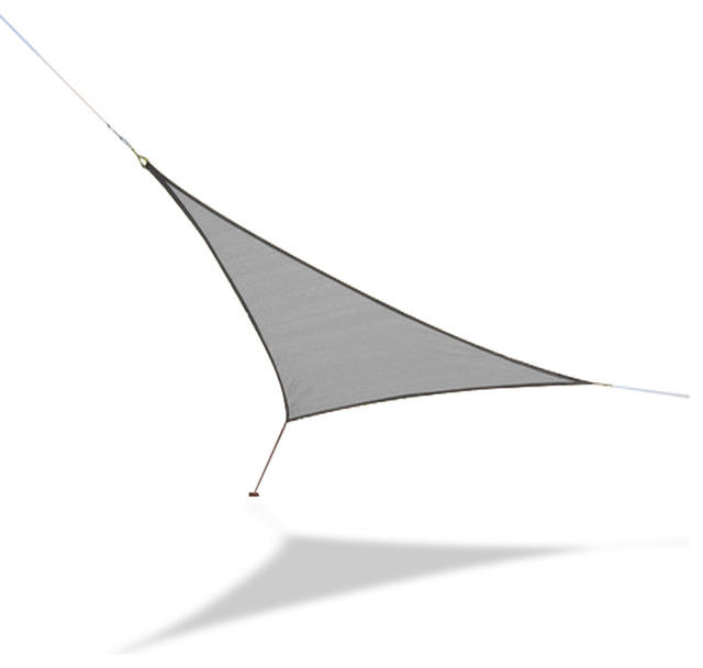 "Sun Shade Sail Medium Triangle 11&x27; 10"" Triangular , Silver."