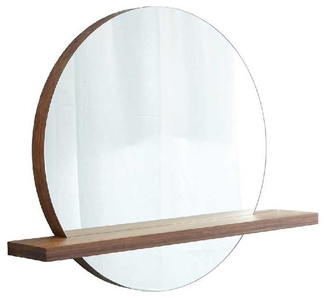 "Bathroom Mirrors With Shelf native trails 28"" woven strand shelf for mirror - contemporary"