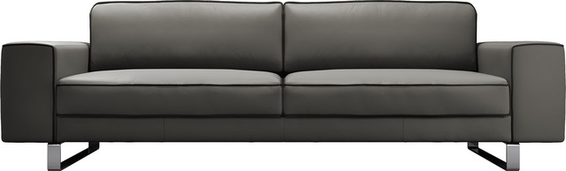 Waverly Sofa In Warm Gray Leather