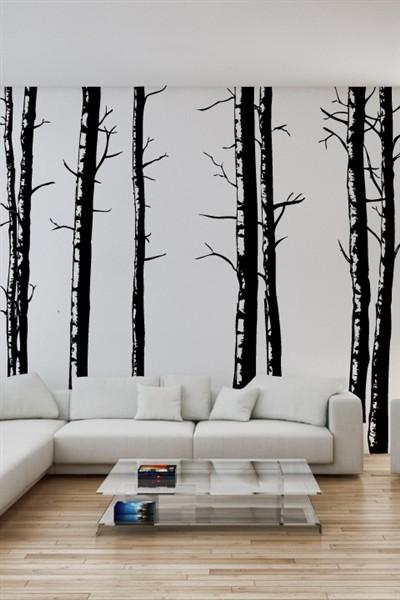 Walltat Birch Tree Wall Decals Reviews Houzz