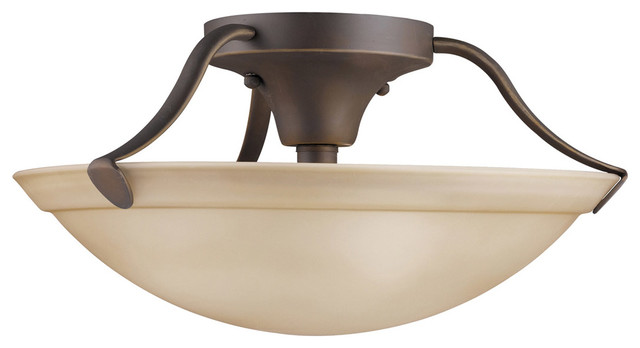Signature 3-Light Semi-Flush Mounts, Olde Bronze.