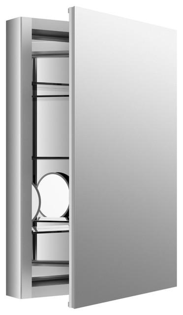 Verdera Aluminum Medicine Cabinet, Anodized Aluminum.