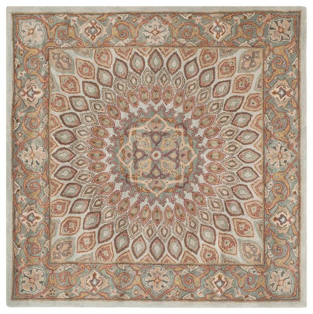 Peyton Hand Tufted Rug, Blue/gray, 10&x27;x10&x27; Square.