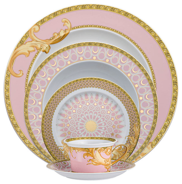 Versace Byzantine Dreams 5 Pc. Place Setting - Traditional - Dinnerware Sets - by Fine Brand Sales  sc 1 st  Houzz & Versace Byzantine Dreams 5 Pc. Place Setting - Traditional ...