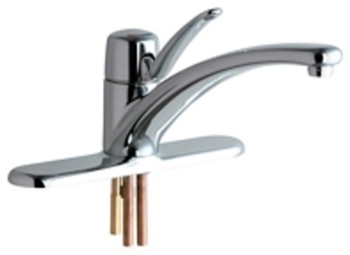 Chicago Faucets 2300 8e34ab Commercial Grade Kitchen Faucet With Lever Handle A
