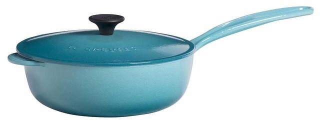 Le Creuset Enameled Cast Iron Saucier Pan.