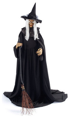 hagatha the witch animated halloween figure halloween decorations and decor traditional holiday decorations