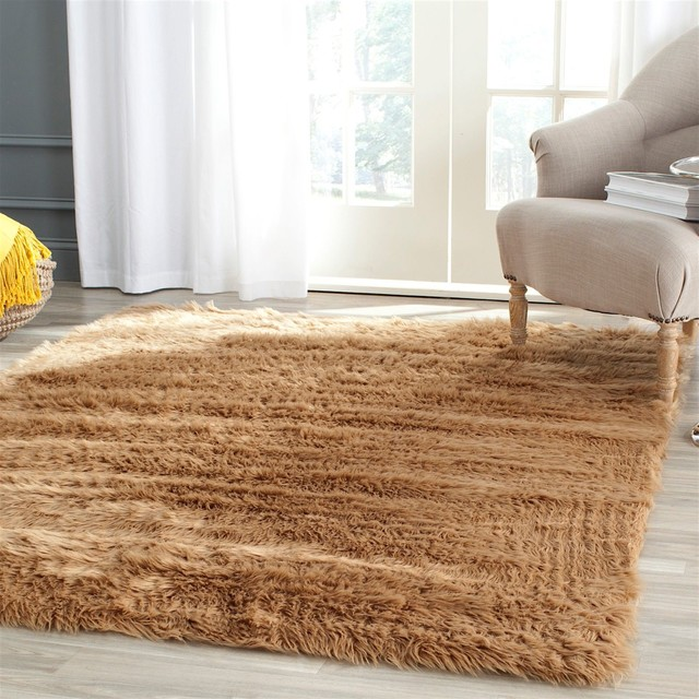 Animal inspirations faux sheep skin area rug contemporary area rugs by rugpal - Faux animal skin rugs ...