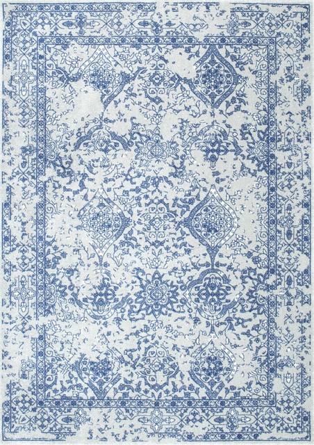 Nuloom Bodrum Vintage Odell Light Blue 7&x27;10 X 10&x27;10 Rug.