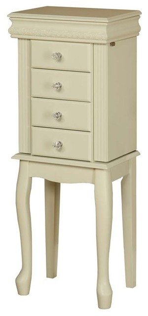 Elizabeth Jewelry Armoire - Traditional - Jewelry Armoires - by Linon Home Decor Products