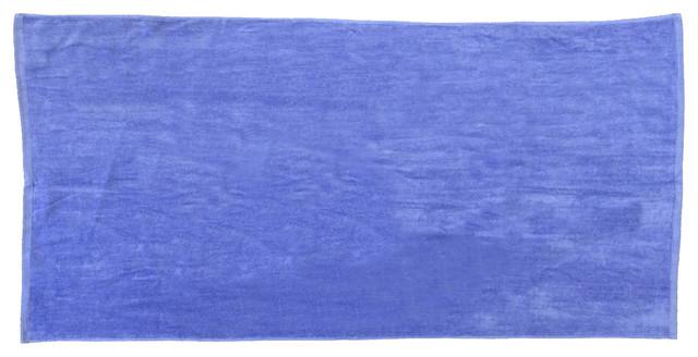 Caribbean Blue 32x64 Terry Velour Beach Towels