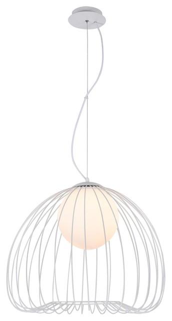 Polly Pendant Light, Silver