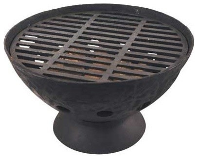 Cast Iron Fire Bowl With Grate 21 5 Diameter