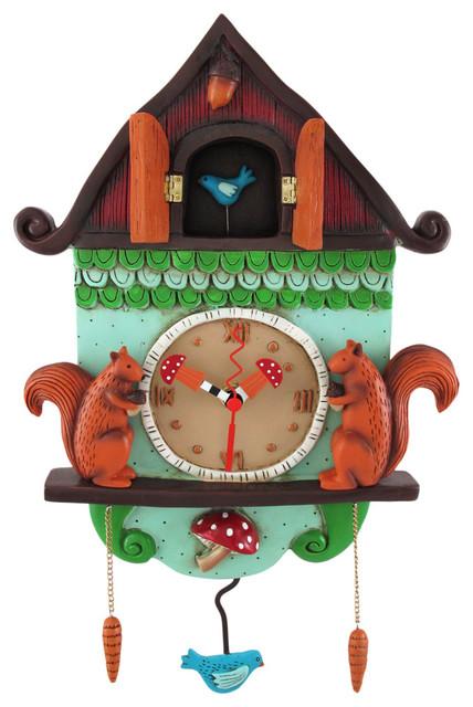 Allen Designs 39 Cuckoo Bird 39 Wall Mounted Pendulum Clock