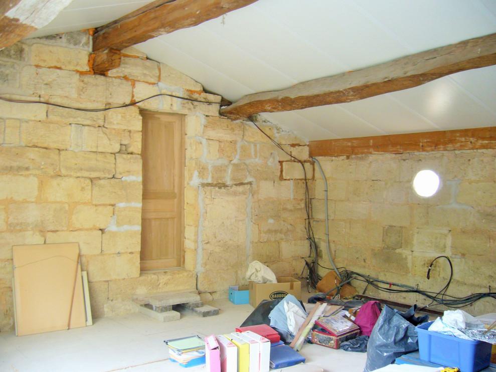 Création d'une chambre dans un grenier