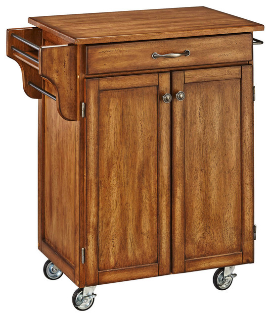 home styles furniture cuisine cart warm oak finish with