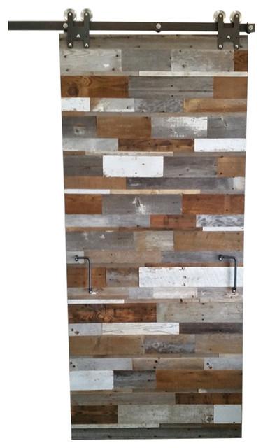 Ludlow Barnwood Reclaimed Barn Wood Door Multicolored Reviews Houzz