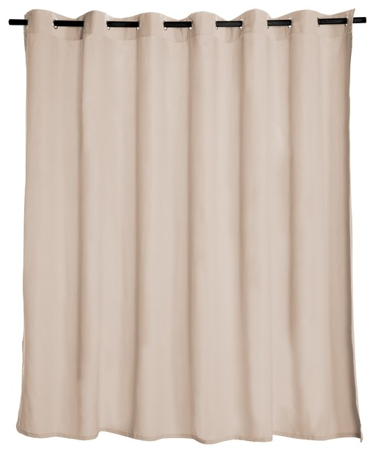 Beige Extra Wide Outdoor Curtain With Nickel Grommets 108 Long