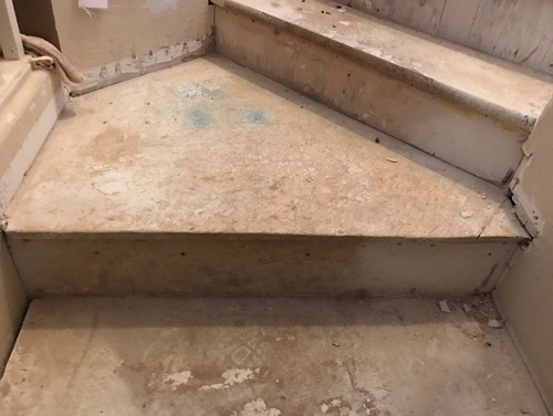Is It Simply A Matter Of Measuring The Existing Landing And Then Getting A  Piece Of Wood Or Plywood The Same Exact Size, Ripping Up The Exiting  Plywood And ...