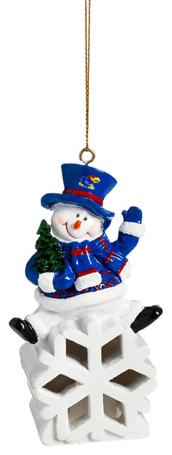 America Kansas Jayhawks Snowman Led Ornament