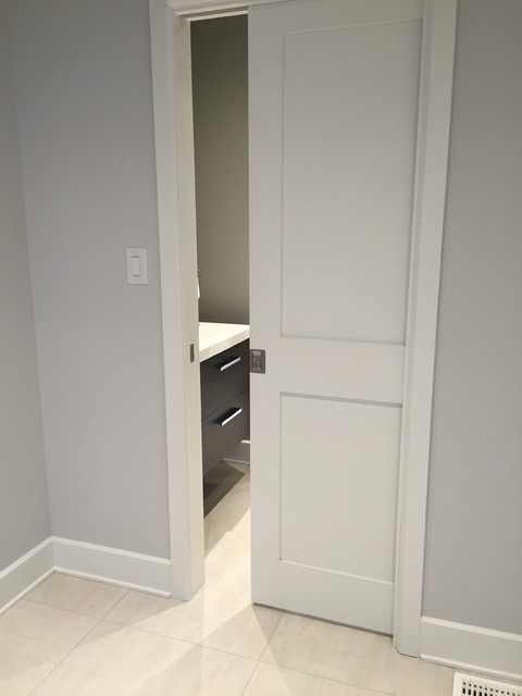 Captivating St Phanie Fortier Design Shaker Style Pocket Door Transitional