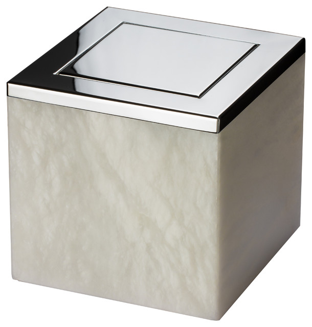 Waste Baskets Magnificent Alabaster Square Extra Small Countertop Wastebasket Trash Can Inspiration