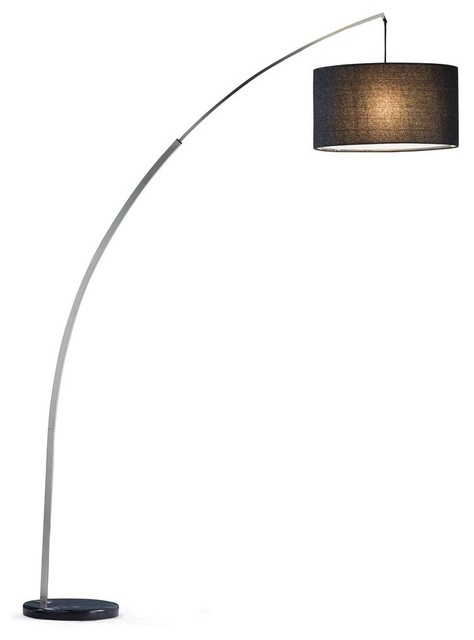 Arc Lamp With Drum Shade.