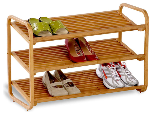 3-Tier Bamboo Shoe Rack Shelf.