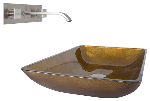 vigo rectangular copper glass vessel bathroom sink and ForRectangular Copper Bathroom Sink