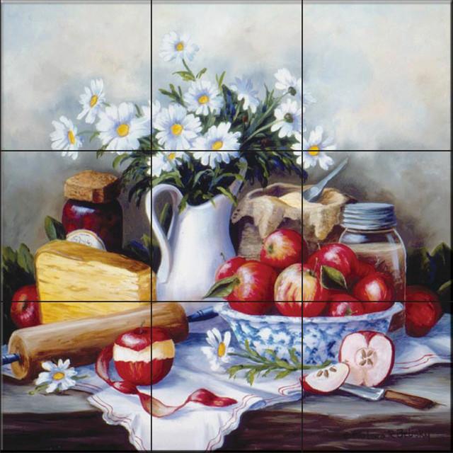 Tile Mural, Summer Still Life by Barbara Felisky