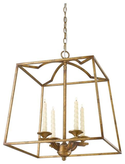Transitional Foyer Lighting : Light halogen bulb foyer pendant grecian gold