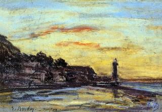 "Print Oyster Eugene-Louis Boudin The Honfleur Lighthouse - 16"" x 24 ..."