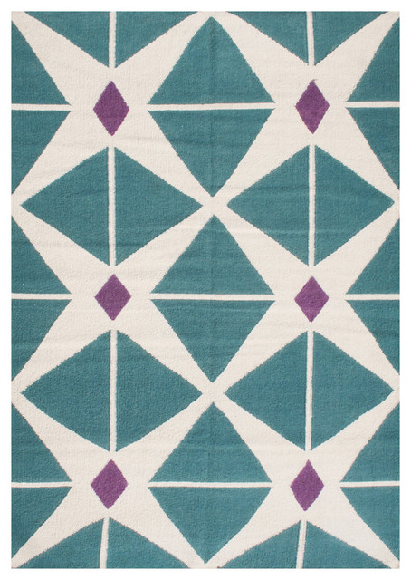 Alliyah rugs sea blue purple and vanilla contemporary for Purple area rugs contemporary