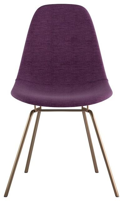 Nye Koncept Mid Century Classroom Side Chair Plum Purple